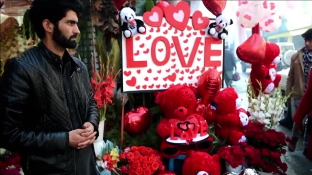 in conservative afghanistan many people are unaware of or don't mark valentine's day but youths in urban areas celebrate the day despite restrictions - valentine's day stock videos & royalty-free footage