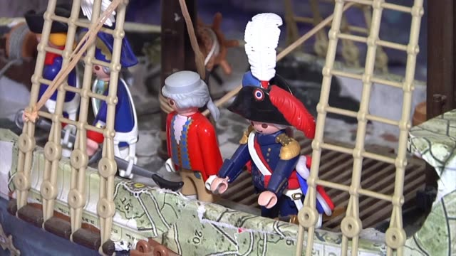 In Corsica a history buff depicts the life and legacy of Napoleon using customized Playmobil figurines