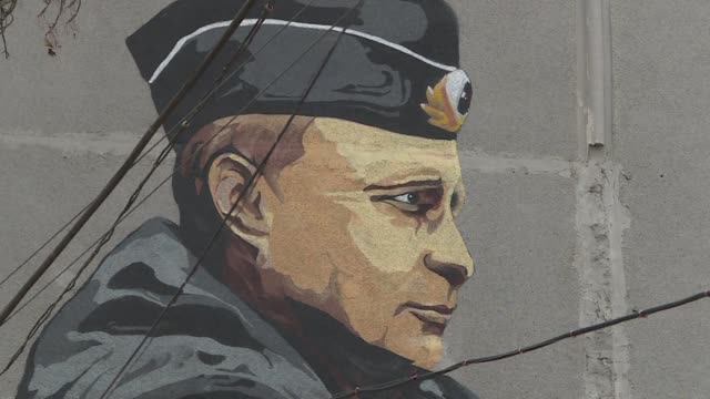in crimea annexed by russia in 2014 the support for russian president vladimir putin is overwhelming - vladimir putin stock videos & royalty-free footage
