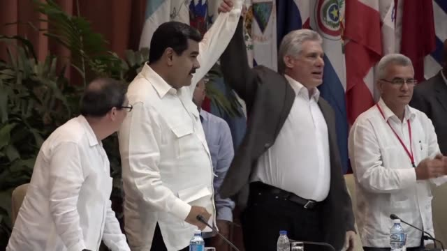 in cuba there are not and there will not be capitalist turns nor concessions says cuban president miguel diaz canel as he hosts the political leftist... - evo morales stock videos & royalty-free footage
