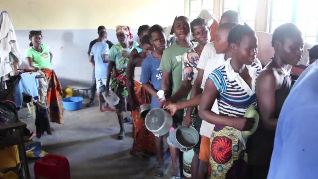 in dondo near beira the mozambican city devastated by cyclone idai food distribution finally begins in one of the 20 schools transformed into an... - vortex stock videos & royalty-free footage