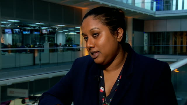 stockvideo's en b-roll-footage met nhs in england faces possible strike action over plan to scap 1 per cent pay rise gir int dr kitty mohan interview sot by chipping away at nhs pay... - mogelijk