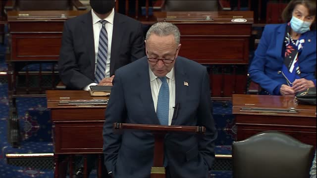 in first speech as senate majority leader, new york senator chuck schumer says he must catch his breath with so much having come a few hours earlier... - weathered stock videos & royalty-free footage