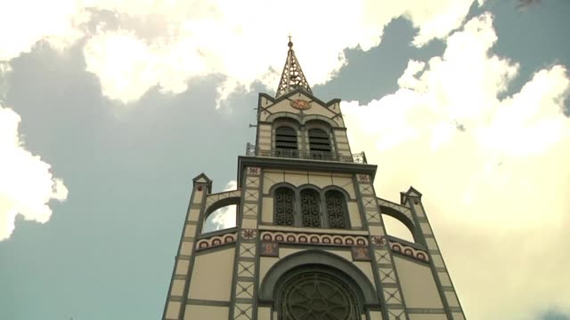 in fortdefrance on the island of martinique the bells of saint louis cathedral ring as a tribute to the torched notre dame cathedral in paris - saint louis bildbanksvideor och videomaterial från bakom kulisserna