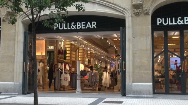 In Getaria Kalea pedestrianised street in San Sebastian With people passing PullBear is a Spanish clothing and accesories chain It is one of the...