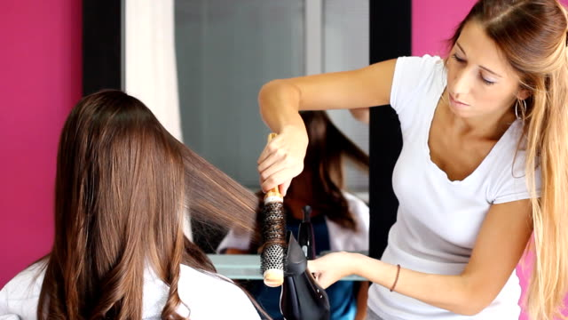 in hair salon - beauty salon stock videos and b-roll footage