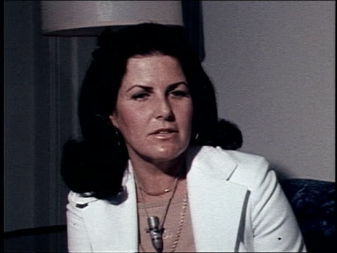 stockvideo's en b-roll-footage met in her book my story judith exner tells her story of what it was like being president john f kennedy's mistress interview with alleged mistress of... - 1977