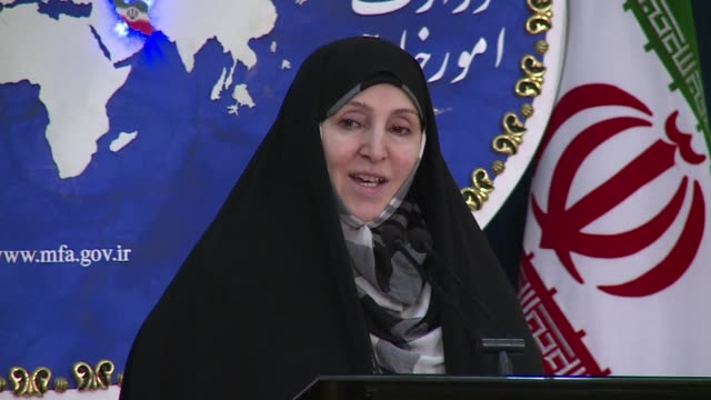 in her last weekly press conference before the iranian new year foreign ministery spokeswoman marzieh afkham said that intensive and sensitive... - weekly stock videos and b-roll footage