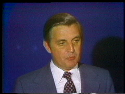in his analysis of a 1976 presidential debate, us senator walter mondale comments that jimmy carter was in command of the debate after about 12... - (war or terrorism or election or government or illness or news event or speech or politics or politician or conflict or military or extreme weather or business or economy) and not usa stock videos & royalty-free footage