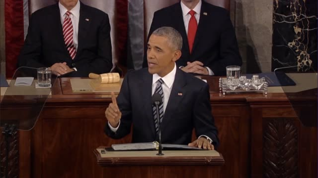 in his final state of the union address president barack obama jokes that the only americans who will hold the same job for decades sit before him in... - medical insurance stock videos & royalty-free footage