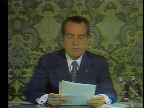 in his first televised speech to the soviet people from the kremlin us pres richard nixon tells the story of 12yearold tanya who saw all her... - (war or terrorism or election or government or illness or news event or speech or politics or politician or conflict or military or extreme weather or business or economy) and not usa video stock e b–roll