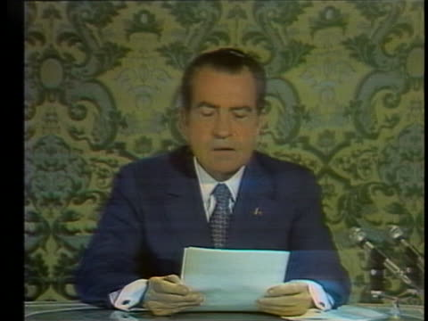 in his first televised speech to the soviet people from the kremlin, us pres. richard nixon tells the story of 12-year-old tanya, who saw all her... - (war or terrorism or election or government or illness or news event or speech or politics or politician or conflict or military or extreme weather or business or economy) and not usa stock videos & royalty-free footage
