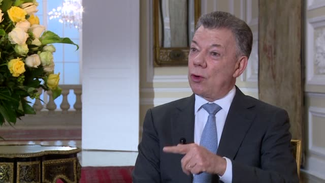 in his last interview with afp before leaving power on august 7 colombian president juan manuel santos speaks of peace drug trafficking and what he... - juan manuel santos stock videos & royalty-free footage