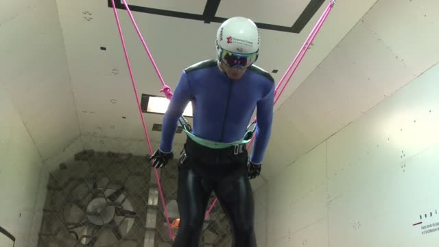 in his quest for gold at the sochi winter games, frenchman and four-times world champion jason lamy-chappuis prepares in a wind tunnel in geneva... - fourth occurrence stock videos & royalty-free footage