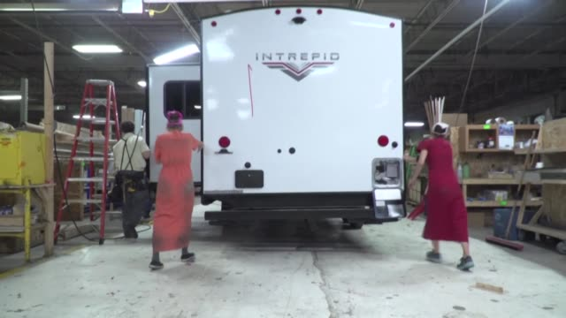 in indiana the amish community is a major contributor to the development of the rv industry a sector considered an excellent indicator of the health... - amish video stock e b–roll