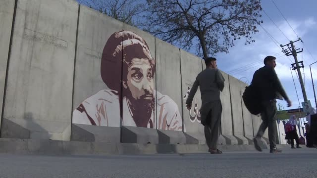 in kabul it is hard to miss the late ahmad shah massoud - michael barry stock videos & royalty-free footage