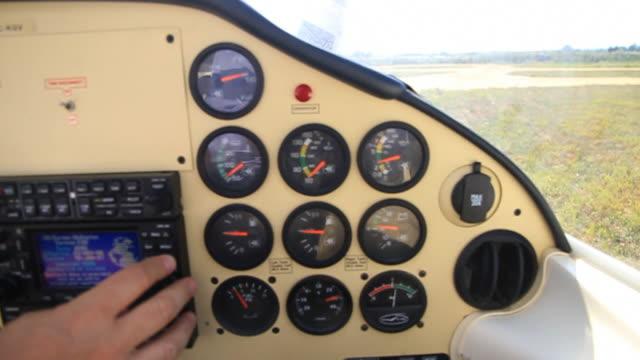 POV in light aircraft cockpit