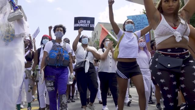 stockvideo's en b-roll-footage met in light of gay pride month and the death of an africanamerican man george perry floyd jr who has sparked worldwide protests the transgender... - chanten