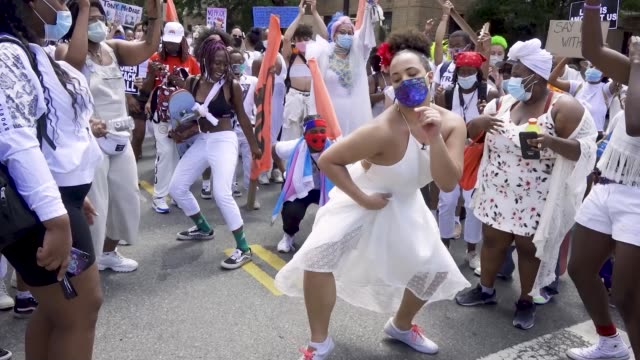 in light of gay pride month and the death of an african-american man george perry floyd jr. who has sparked worldwide protests, the transgender... - dancing stock videos & royalty-free footage