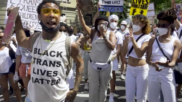 in light of gay pride month and the death of an africanamerican man george perry floyd jr who has sparked worldwide protests the transgender... - african ethnicity stock videos & royalty-free footage