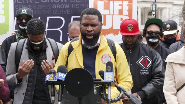 in light of recent gun violence and the multitude of shootings in the summer of 2020 fellow elected officials and community activists rally at... - pastor stock videos & royalty-free footage
