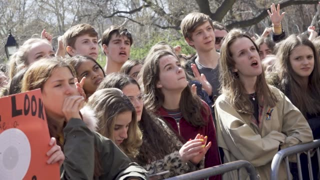 in light of the deadly mass shooting at marjory stoneman douglas high school in parkland florida and other related gun violence incidents high school... - parkland florida stock videos and b-roll footage