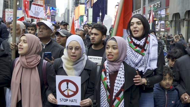 in light of the recent mass gun shooting terrorist attack at the christchurch in new zealand, muslims, christians and jews gathered in midtown... - prohibition stock videos & royalty-free footage