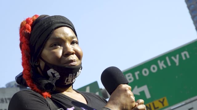 in light of the worldwide protests sparked by the death of george floyd organizers and supporters of voices of community activists leaders rallied in... - directly below stock videos & royalty-free footage