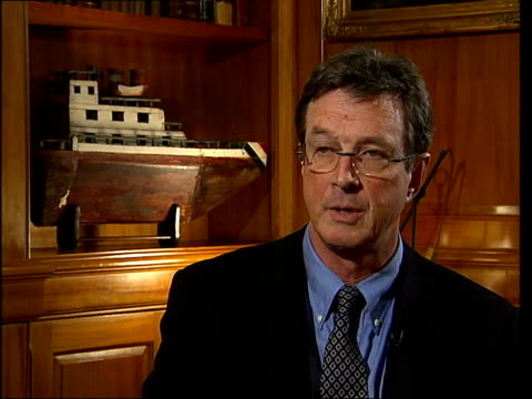 in london to promote new book; cms michael crichton interview sot - talks of doubting evidence for global warming which inspired his new book 'state... - uncertainty stock videos & royalty-free footage