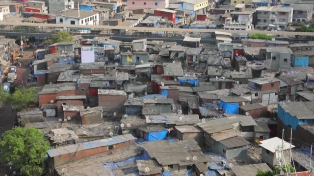 in mumbai's densely packed dharavi neighbourhood -- one of asia's largest slums -- coronavirus fears are growing as the number of cases climbs to... - slum stock videos & royalty-free footage