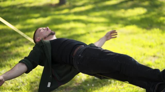 in my zen mood - tightrope walking stock videos & royalty-free footage