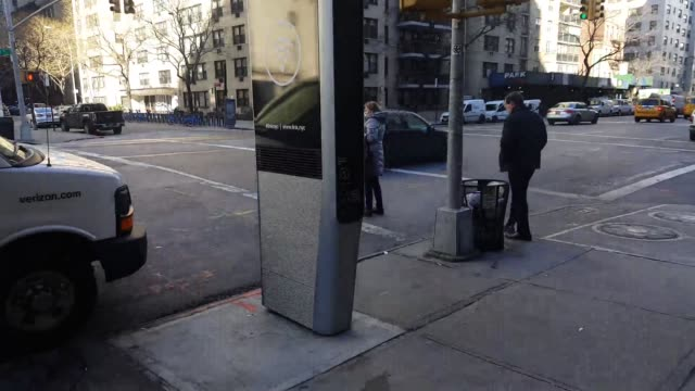 in new york city old phone booths are being replaced by free wifi spots - public phone stock videos & royalty-free footage