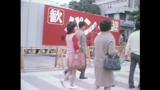 in october as the giant pandas given by china are on exhibit at ueno zoo in tokyo as the first-ever in japan, the entire district of ueno is packed... - パンダ点の映像素材/bロール