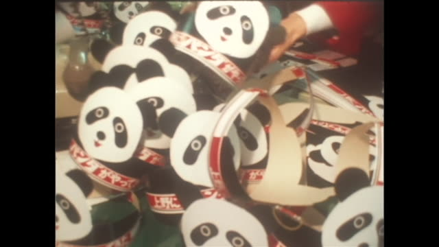 In October When the Giant Pandas are on exhibit at Ueno Zoo as the firstever in Japan the members of shopping mall in Ueno produced Panda masks to...