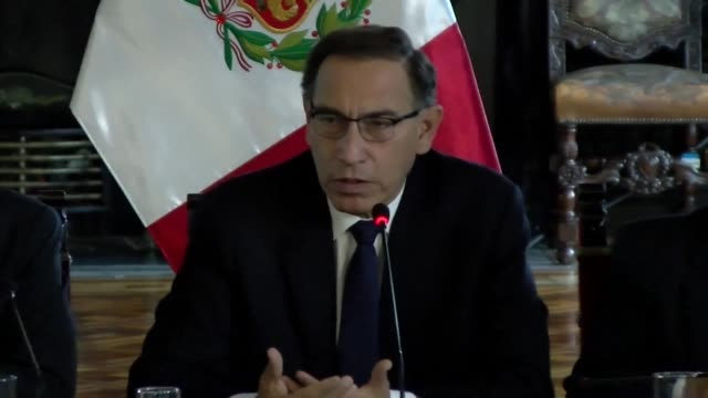 in reaction to bolsonaro's election win peru's president martin vizcarra says he hopes his country will strengthen their ties with brazil - martín vizcarra stock videos & royalty-free footage