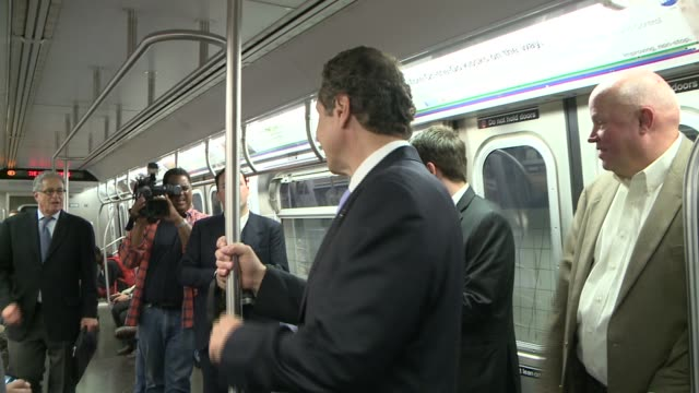 In response to terrorist threats from Islamic group ISIS on the New York City transit system Governor Cuomo rides the subway to reassure New Yorkers...