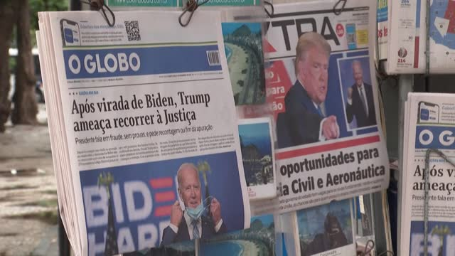 in rio de janeiro, brazilians are divided over the closely-contested us presidential election - verification stock videos & royalty-free footage