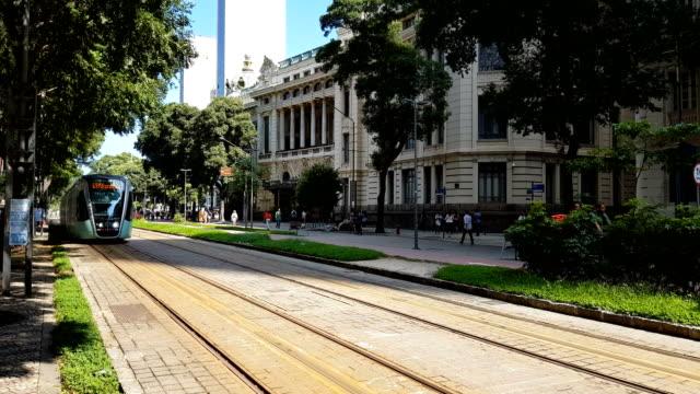 リオデジャネイロ市内の vlt - 路面電車点の映像素材/bロール