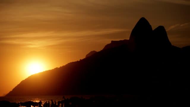 sunrise in rio timelapse - rio de janeiro stock videos & royalty-free footage