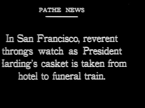 in san francisco reverent throngs watch as president harding's casket - 1923 stock videos & royalty-free footage