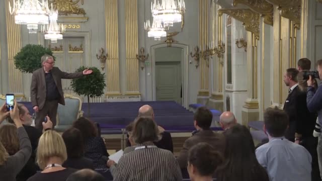 in stockholm where he is to receive the 2019 nobel prize for literature peter handke dodges the controversy over his pro serb positions during the... - nobel prize in literature stock videos & royalty-free footage