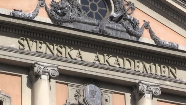 in tatters after a metoo scandal the swedish academy has postponed this year's nobel literature prize leaving an empty page for 2018 as it attempts... - nobel prize in literature stock videos & royalty-free footage
