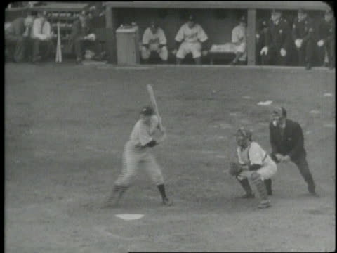 in the 1941 world series the brooklyn dodgers play the new york yankees in game 4. - baseball world series stock videos & royalty-free footage