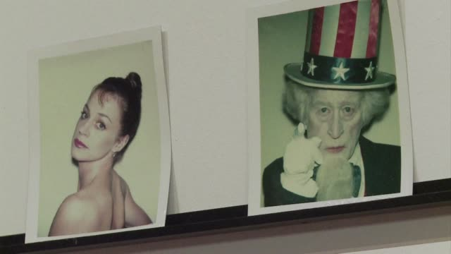 in the 1970s and 80s iconic pop artist andy warhol took thousands of photographs with his polaroid camera. clean : los angeles gallery shows on... - polaroid stock videos & royalty-free footage