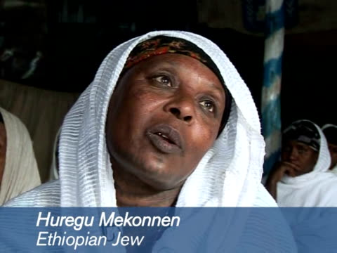 in the 1980s and '90s tens of thousands of ethiopian jews called falashas or outsiders in the country's amharic language were repatriated to israel... - avvenimento biblico video stock e b–roll