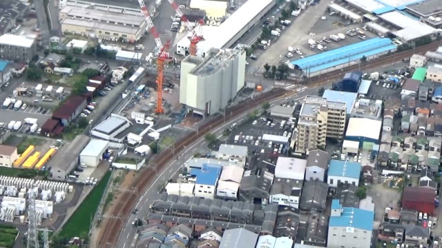 In the 2005 Amagasaki derailment accident of JR Takarazuka Line Demolition work of the ninestory apartment where the train collided in Hyogo...