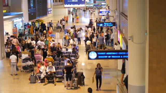 In the airport Terminal at night time