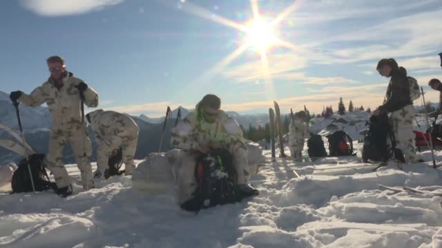 in the alps 12 of the french army's mountaineering elite are preparing for a 300 kilometre ski expedition to greenland in march - kilometre stock videos & royalty-free footage