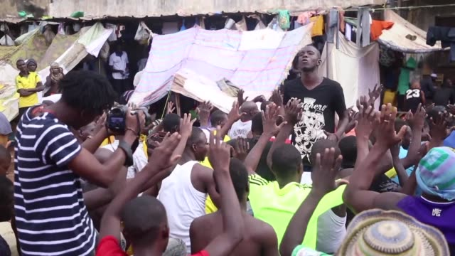 in the bobo dioulasso prison in western burkina faso a prisoner selected to take part in an arts driven rehabilitation initiative is set to release... - prisoner rehabilitation stock videos & royalty-free footage