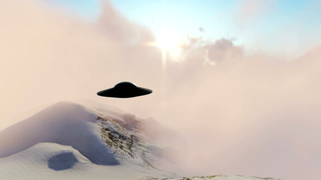 ufo in the clouds - saucer stock videos and b-roll footage